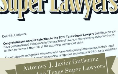 J. Javier Gutierrez Named to 2019 Texas Super Lawyers List